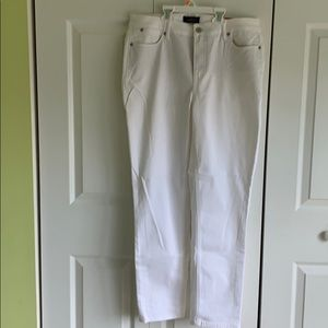Talbots flawless five pocket white jeans